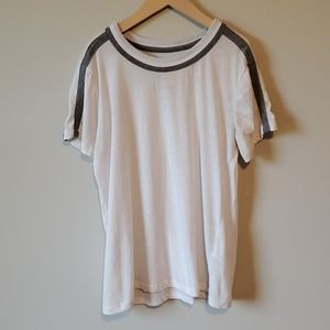 Chaser White T-Shirt With Gray Shoulder